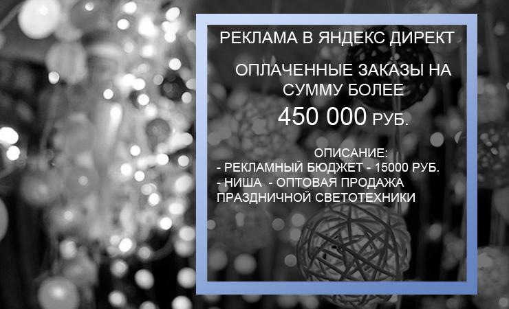 Оптовая продажа праздничной светотехники +450 тыс. руб. дополнительного оборота