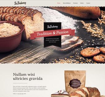 Сайт визитка для  пекарни или кондитерской