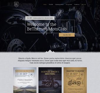 Сайт визитка для  мотосервиса
