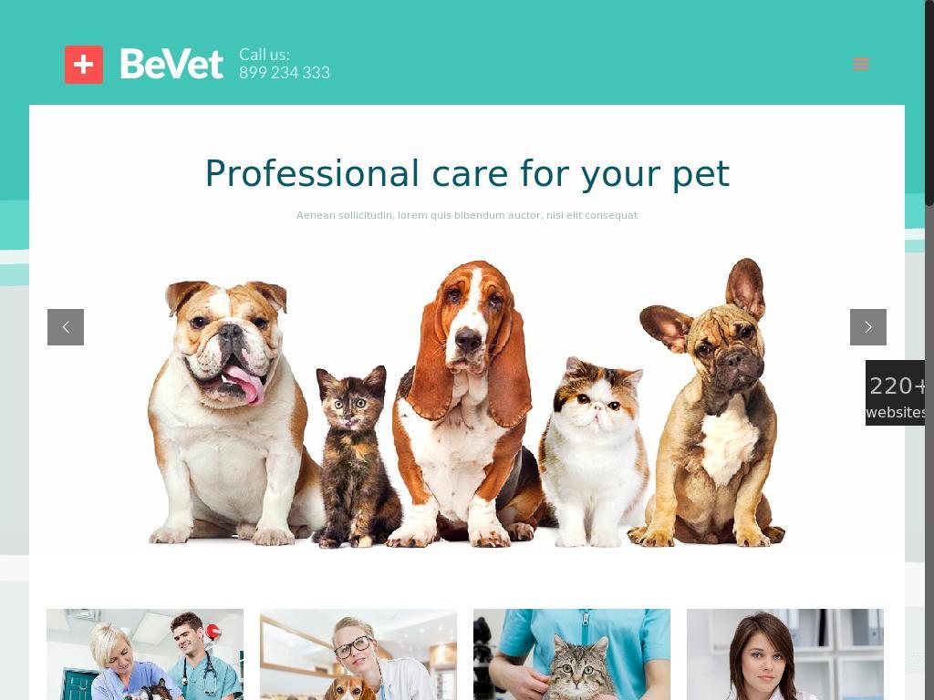 Создание сайта ветеринарной клиники