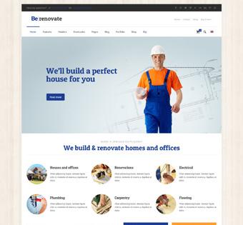 Сайт визитка по ремонту и отделке помещений